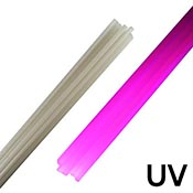 White Satin UV Rod 33 COE (1/4 lb. minimum)
