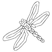 Dragonfly - Clear Bevel Cluster 9-3/4 x 6 in., 10 pieces