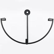 Wrought Iron Wall-Mount Circle Stand holds 5-1/4 in. Circle
