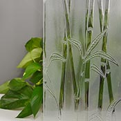 Bamboo Frosted Clear Cathedral Import Texture