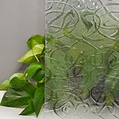 Everglade Clear Cathedral Import Texture Large Sheet 52 x 84 in.