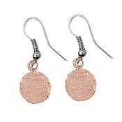 Copper Disc Earrings - 10 mm