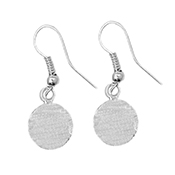 Silver Disc Earrings - 10 mm