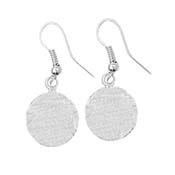 Silver Disc Earrings - 15 mm