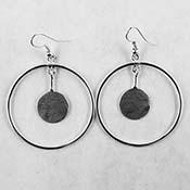 Circle Earrings/Pendant - 15 mm