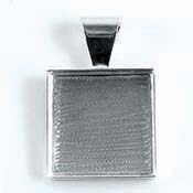 Pendant Square Welled 1""