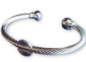 Silver-tone Adjustable Cuff Bracelet