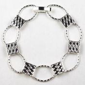 Silver Oval Link Bracelet