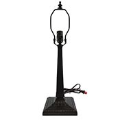 Lamp Base 13-1/2 in. Mission Bronze Finish