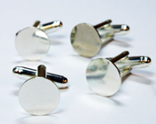 Silver-plated Cuff Links- 4 per pack