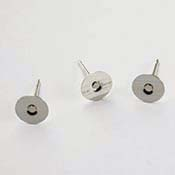 Flat Pad Sterling 6mm Earrings Post (Package of 24)