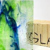 Blue/ Green/ Clear Streaky Granite