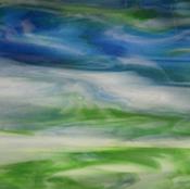 Powder Blue Opal / Green Opal / Medium Cobalt Blue Cathedral