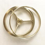 4 in. Wheel & Ring Set - Raw