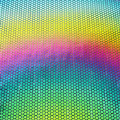 Thin Clear Borosilicate with Dichroic Honeycomb