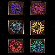 1 in. Pinwheels 33 COE