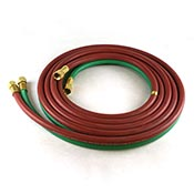 Torch Hose Set 1/4 in. x 12-1/2 feet Brass Fittings on both Ends