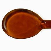 Transparent - Medium Topaz 19-1/2 in. Moretti rod 104 COE (1/4 lb. minimum order)