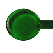 Transparent - Light Emerald Green 19-1/2 in. Moretti rod 104 COE (1/4 lb. minimum order)