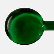 Transparent - Dark Emerald Green 19-1/2 in. Moretti rod 104 COE (1/4 lb. minimum order)