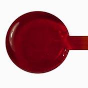 Transparent - Strikes Red 19-1/2 in. Moretti rod 104 COE (1/4 lb. minimum order)