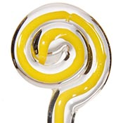 Filigree - Yellow/Crystal 19-1/2 in. Moretti rod 104 COE (1/4 lb. minimum order)