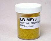 Light Yellow Small Frit 104 COE (4 oz.)