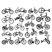 Bikes Black Decals