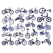 Bikes Blue Decals