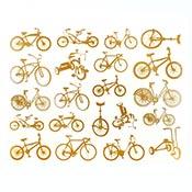 Bikes Gold Decals