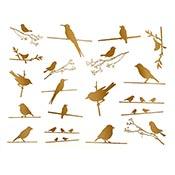 Birds On Wire Gold Decals