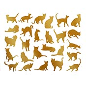 Cats Gold Decals