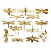 Dragonflies Gold Decals