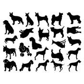 Dogs Black Decals