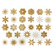 Snowflake Gold Decals