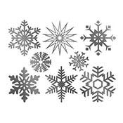Large Snowflake Platinum Decals