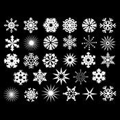 Snowflake Mica White Decals
