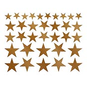 Solid Stars Gold Decals