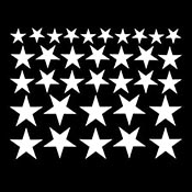 Solid Star Mica White Decals