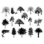 Trees Black Decals