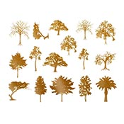 Trees Gold Decals