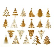 Christmas Gold Decals