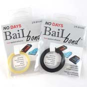 No Days Bail Bond Adhesive - Black