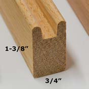 Wide Oak Framing Stock (1-3/8 in. x 6 feet)