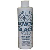 Novacan Black Patina for Zinc (8oz)++