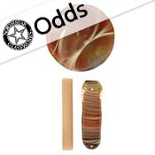 Odd - Caramel Borocolour 18 in. Rod 33 COE (sold by the pound)