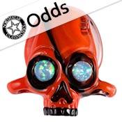 Odd - Poppy Borocolour 18 in. Rod 33 COE (sold by the pound)