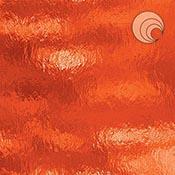 Orange Rough Rolled Transparent Fusible 96 coe