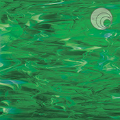 Dark Green/ White Wispy Fusible 96 coe