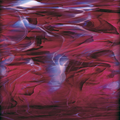 Dark Purple/ White Wispy Fusible 96 coe